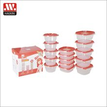 summer&outdoor living food packing box food storage container 15pcs set with carrying color box