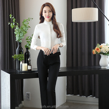 Custom fashion ladies office wear women formal shirts designs