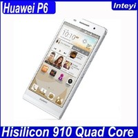 Original 4.7inch Huawei P6 quad core 2+8GB memory 12MP camera HD IPS screen huawei ascend p6 android mobile phone