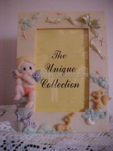 Polyresin promotional baby angel frame photo ,picture photo frame for sale