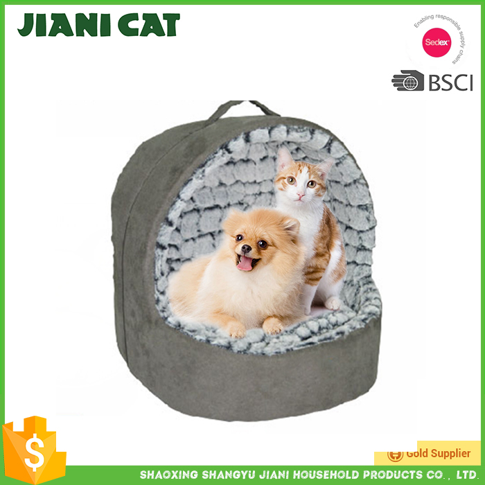 Easy to carry warm thick plush dog bed for winter