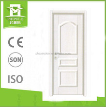 Ivory white interior door Korean flat stitching strengthen doors