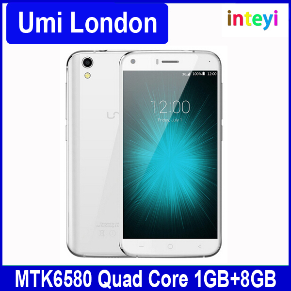 NEW Original Umi London Mobile Phone MTK6580 5.0 inch Android 6.0 Smartphone Quad Core 1G RAM 8G ROM 2050mAh Umi Cellphone
