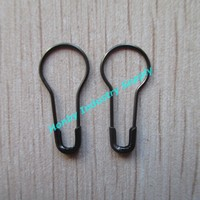 22mm black color jewelry price tag stainless steel safety pin in china