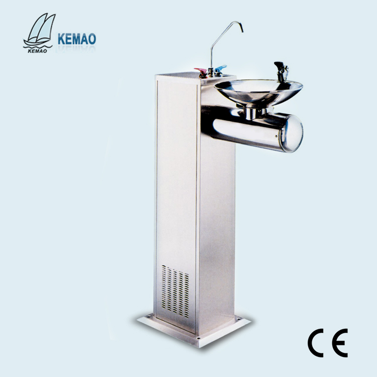 Public floor stand stainless steel hot and cold drinking water fountain