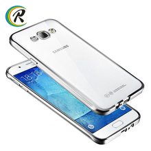 Clear soft for samsung galaxy j1 mini case for Samsung Galaxy A3 plating bumper tpu back cover