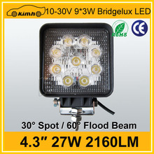 SUV car 4x4 27W 4inch Europe warehouse factory wholesale led work lights