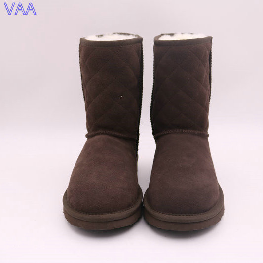 Winter Real Sheepskin EVA Sole and Comfortable Women Middle Snow Boots Shoes, Ladies Winter Boots JLX-CF-47