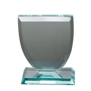 Hot sale blank crystal trophy custom wholesale clear glass trophy award plaques business souvenir champ gift factory