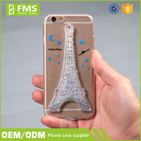 I Love Paris Eiffel Tower Bling Flow Quicksand Phone Case For I Phone 6S