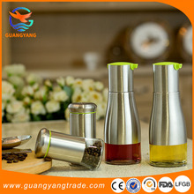 decorative kitchen accessories oil and vinegar cruet glass bottles