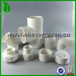 PVC pipe fittings ASTM D2466 SCH40 UPVC FITTING