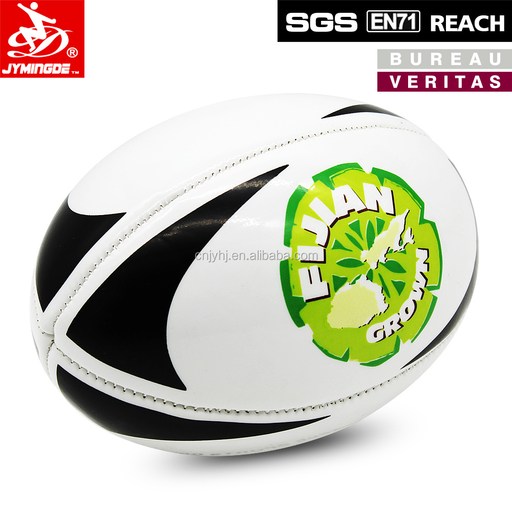 Factory antique machine stitched pu rugby ball