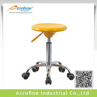 Acrofine cheap plastic lab stool with wheels ABS-1016