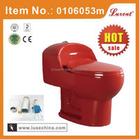 2014 Chaozhou hot selling bathroom red glaze color ceramic toilet set with low price