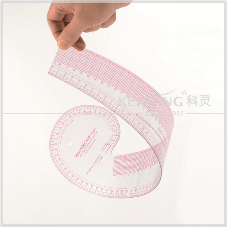 Kearing Multi - use Plastic Vary Form Curve Ruler Metric French Curve # 6505