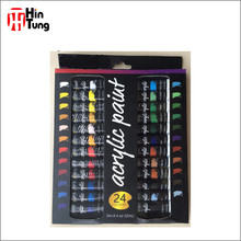 Non - toxic 24pcs 12ml Artist Acrylic Paint set