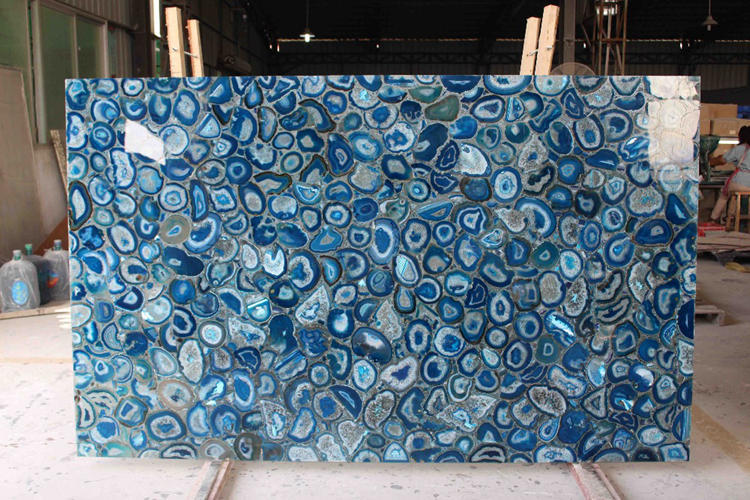 Luxury blue agate Backlit Agate Countertop for home decoration
