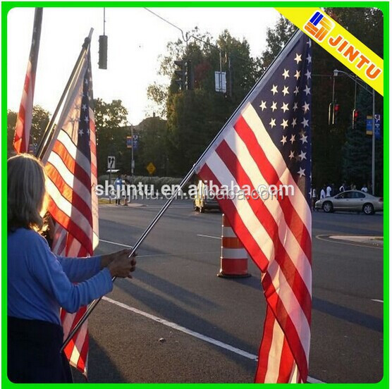 Polyester hand flag for sports, promotion, voting, political campaign