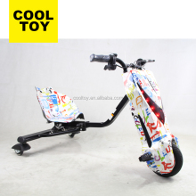 2018 New Kids 3 Wheels Drifting Scooter Electric Drift Trike with Extendable Rod Shock Proof Damping