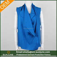 Sleeveless new design fashion ladies blouse
