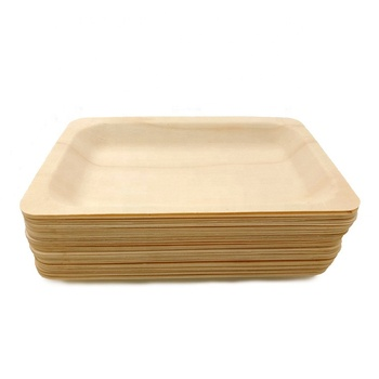 Disposable Rectangular wood plate 5.5'' * 8'' - 200pcs/pack