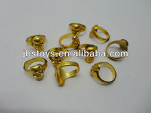 Mini ring toy,plastic gold electro plated ring.,halloween ring-TE12110280