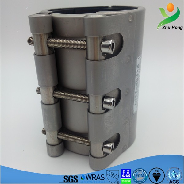 RCH-L stainless steel band Chinese circle clamp/concrete pipe repairing sleeves joint,dalian Zhuhong mechanical
