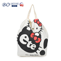 Dongguan hot sale Personalized shopping bag with cat cartoon design for girl