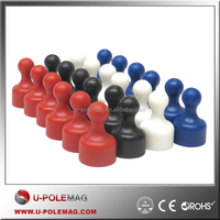 High quality magnetic colorful plastic push pins with strong holder