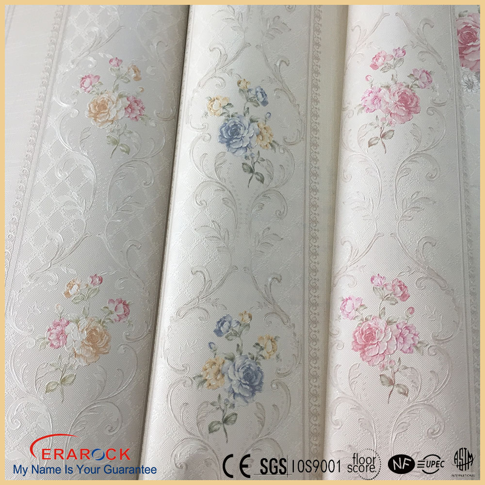 2016 new spring style beautiful flower wallpaper factory price in china