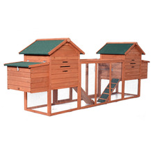 Nesting Box and Outdoor Run large double two Wooden Chicken Coop