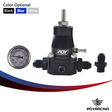 PQY RACING - UNIVERSAL FUEL PRESSURE REGULATOR + GAUGE + AN6 FITTING 30-70 PSI PQY7845
