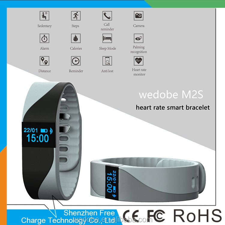 bluetooth heart rate monitor smart wristwatch silicone wristband watch bracelet fitness tracker M2S