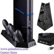 Vertical Stand Cooling Fan for PS4 /PS4 Slim Console with Dual Charger Dock