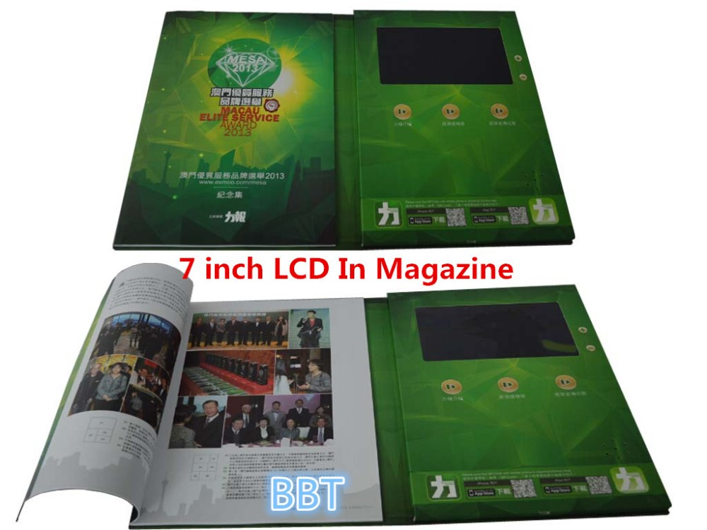 2018 New LCD Video Advertising Magazine Wholesale