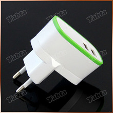Mobile Phone EU Wall Plug Travel Adapter 2.1A Dual Port Portable Phone Charger