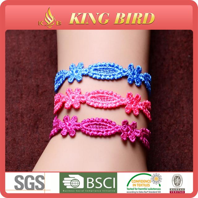 top quality 100% polyester cord bracelet red string bracelet gold