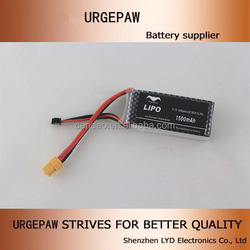 Max discharge rate 40c rc helicopter battery 3s 1500mah rc helicopter removable battery high discharge rate lipo battery 11.1v