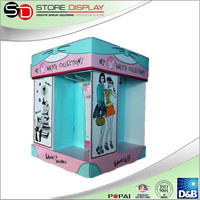 Fashion Clothes popular dollar pallet display promotional cardboard pallet display rack