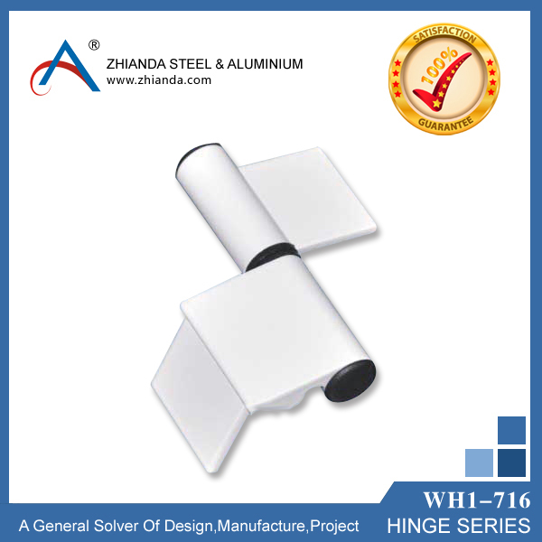 aluminium plastic bathroom door hinge white color China supplier