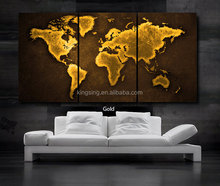 abstract world map group canvas oil painting for wall decoration