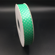 2017 Green Gift Wrapping Custom Outdoor Decorative Printed Manufacture Plastic Ribbon Roll