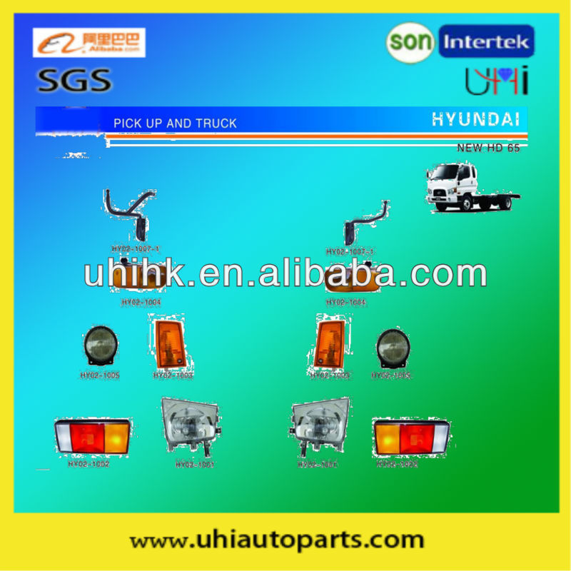 truck body parts---headlamp taillamp mirror etc body parts for hyundai new HD65