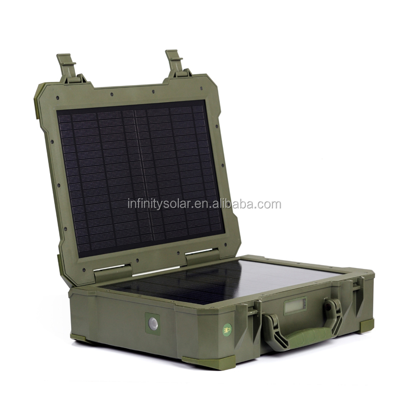 20W folding solar cell panel suitcase for TV,mobile,Light, Air Fan, TV ,Computer,Wash use of outdoor life TUV CE IEC RoHS