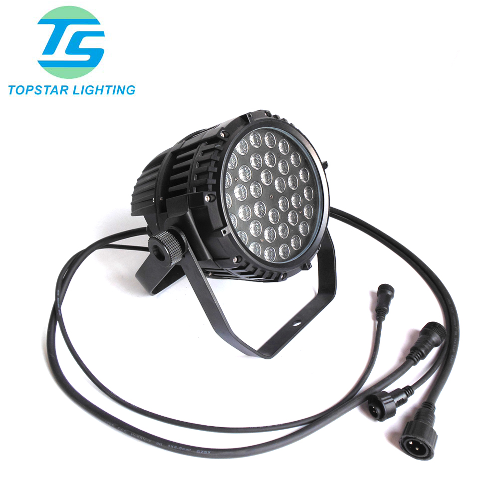 (TSA108-36) China cheap 36 x 3w par64 stage lighting waterproof ip65 <strong>led</strong> par 64 3 watt dmx <strong>led</strong> par can light rgbw 3w