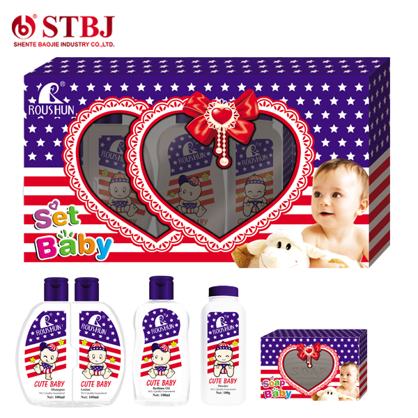 ROUSHUN CUTE BABY Bedtime Oil Shampoo Lotion Baby set