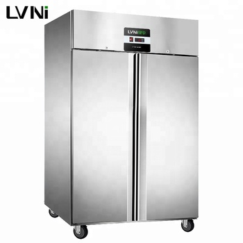 LVNi hot sale restaurant upright double door dual-temperature blast commercial reach in freezer refrigerator fridge