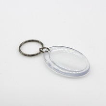 Egg shape Transparent Clear Acrylic Blank DIY Photo Picture Frame Key Chains