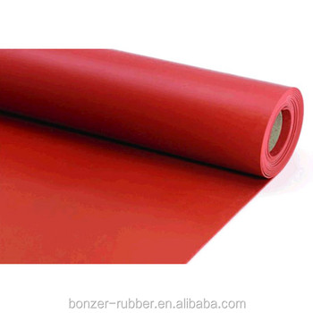 Red silicone rubber sheets roll ,1 mm thick heat resistant cold resistant silicone rubber sheeting